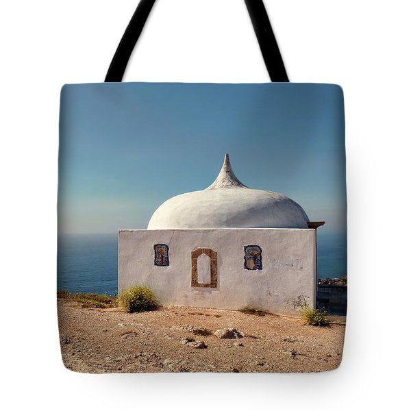 Memory Chapel Monastery On The Cliffs Of Cabo Espichel Sesimbra  Tote Bag by Menega Sabidussi