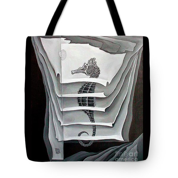 Tote Bag featuring the painting Memory Layers by Fei A