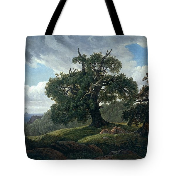 Memory Of A Wooded Island In The Baltic Sea. Oak Trees By The Sea  Tote Bag