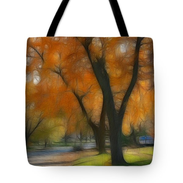 Memory Of An Autumn Day Tote Bag by Lyle Hatch