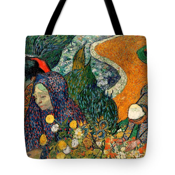 Tote Bag featuring the painting Memory Of The Garden At Etten by Van Gogh