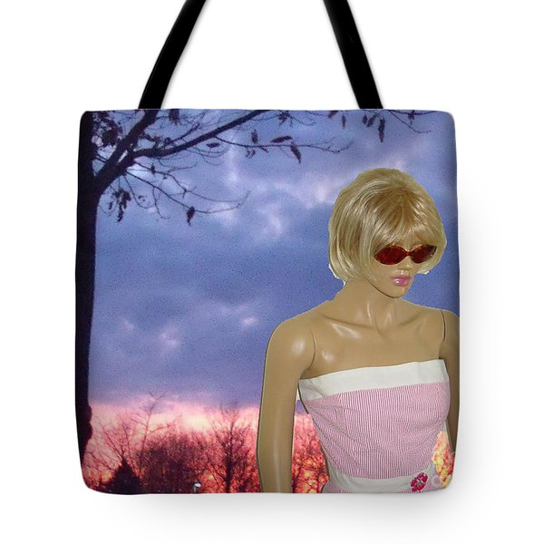 Tote Bag featuring the digital art Memory Of The Sky by Lyric Lucas