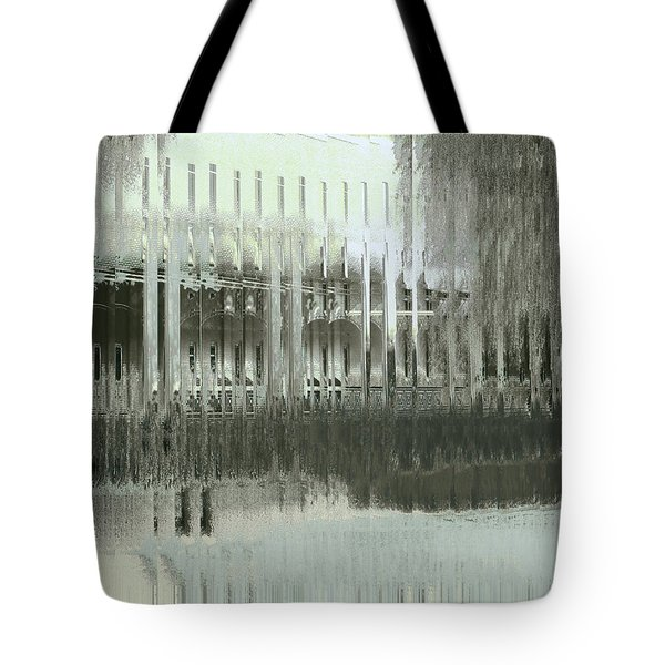 Tote Bag featuring the digital art Memory Palace - Fading by Wendy J St Christopher