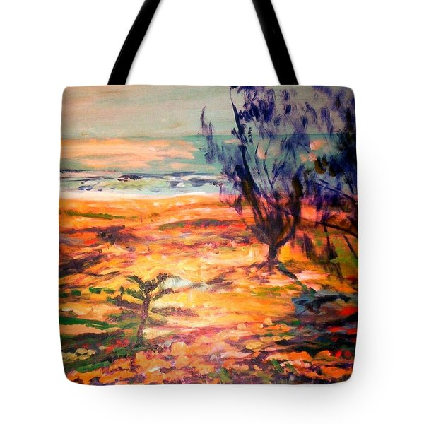 Tote Bag featuring the painting Memory Pandanus by Winsome Gunning