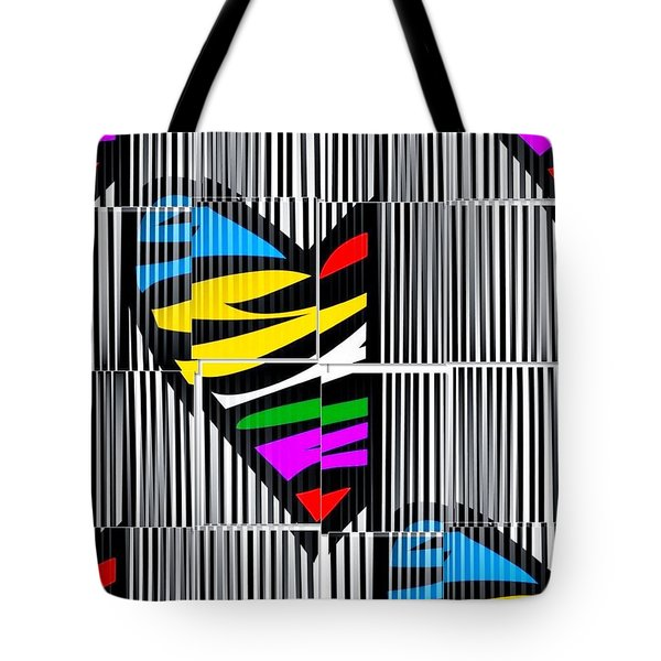 Memory Popart Heart By Nico Bielow  Tote Bag by Nico Bielow