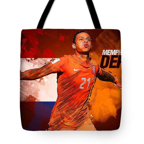 Memphis Depay Tote Bag by Semih Yurdabak