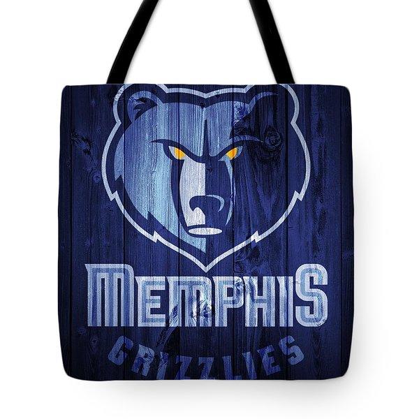 Memphis Grizzlies Barn Door Tote Bag
