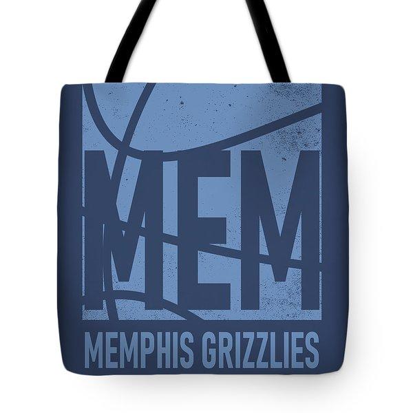 Memphis Grizzlies City Poster Art Tote Bag