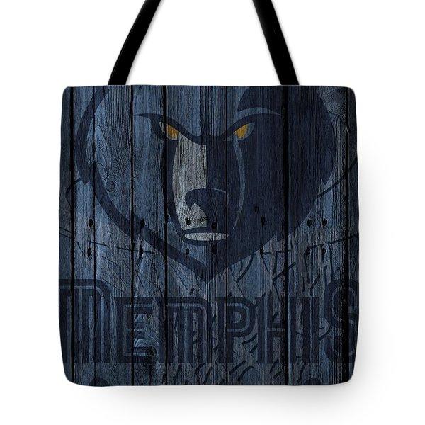 Memphis Grizzlies Wood Fence Tote Bag