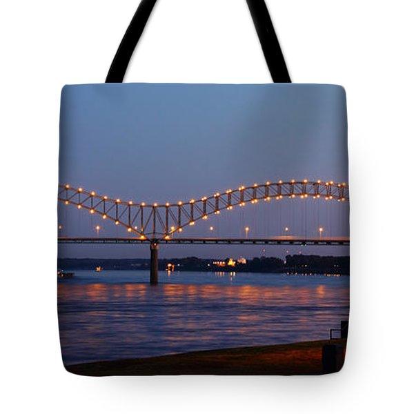 Memphis - I-40 Bridge Over The Mississippi 2 Tote Bag
