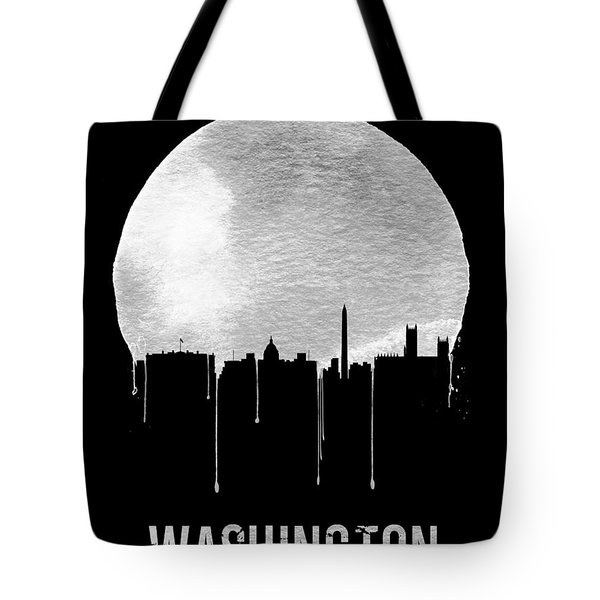 Memphis Skyline Black Tote Bag by Naxart Studio