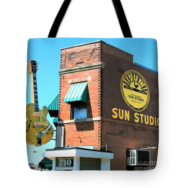 Memphis Sun Studio Birthplace Of Rock And Roll 20160215 Square Tote Bag