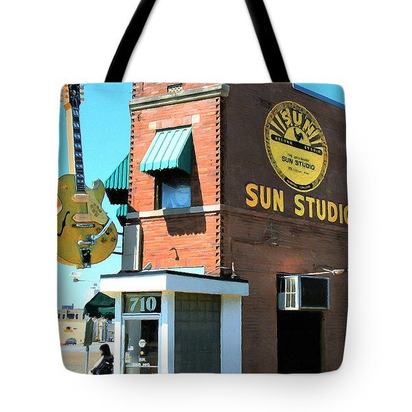 Memphis Sun Studio Birthplace Of Rock And Roll 20160215 Tote Bag