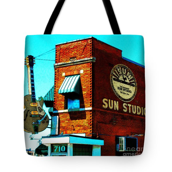 Memphis Sun Studio Birthplace Of Rock And Roll 20160215sketch Sq Tote Bag