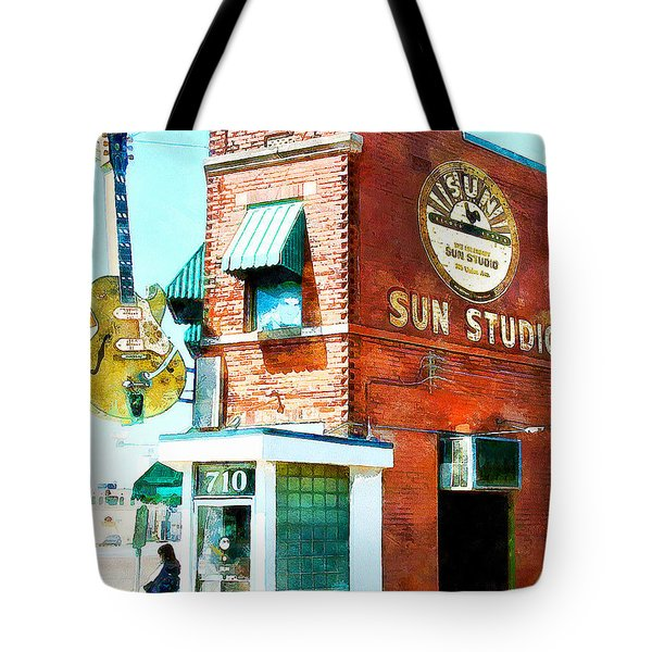 Memphis Sun Studio Birthplace Of Rock And Roll 20160215wcstyle Tote Bag