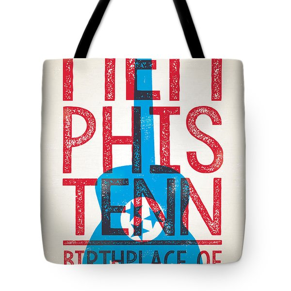Memphis Tennessee - Birthplace Of Rock N Rll Tote Bag