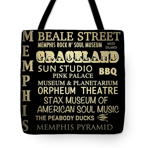 Memphis Tennessee Famous Landmarks Tote Bag