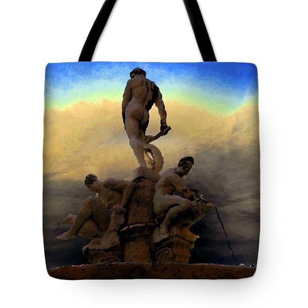 Men Of Greece Tote Bag by David Lee Thompson