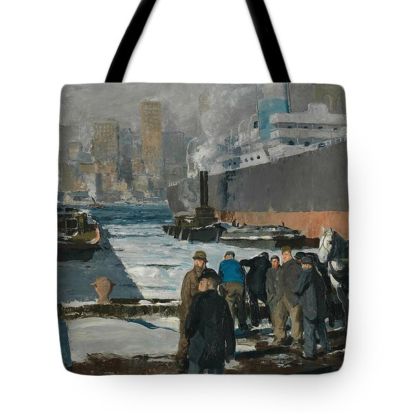 Men Of The Docks Tote Bag by George Bellows