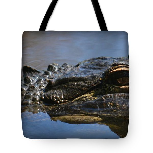 Menacing Alligator Tote Bag
