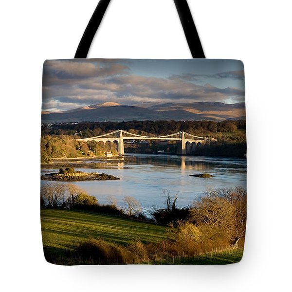 Menai Strait From Anglesey Tote Bag