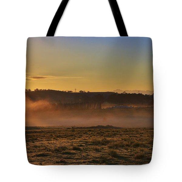Menangle Farm Sunrise Tote Bag