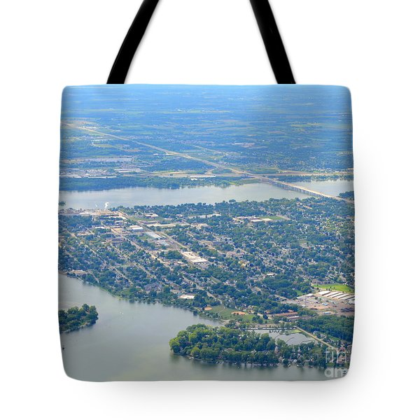 Tote Bag featuring the photograph Menasha To West by Bill Lang