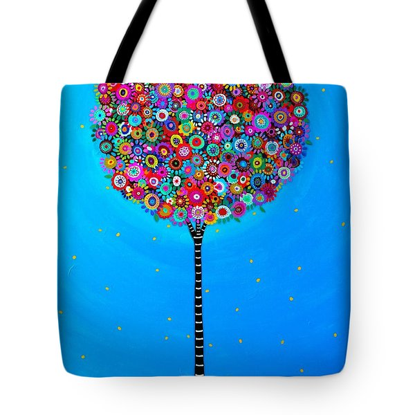 Tote Bag featuring the painting Purpose Of Life by Pristine Cartera Turkus