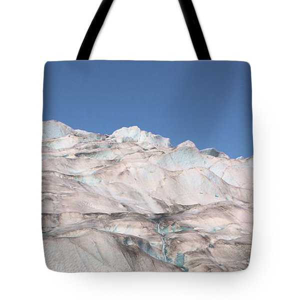Tote Bag featuring the photograph Mendenhall Glacier Panoramic by Kristin Elmquist