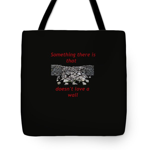 Mending Wall Transparent Background Tote Bag by R  Allen Swezey