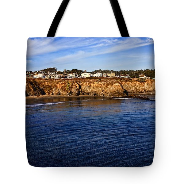 Mendocino Coastal Town Tote Bag by Garry Gay