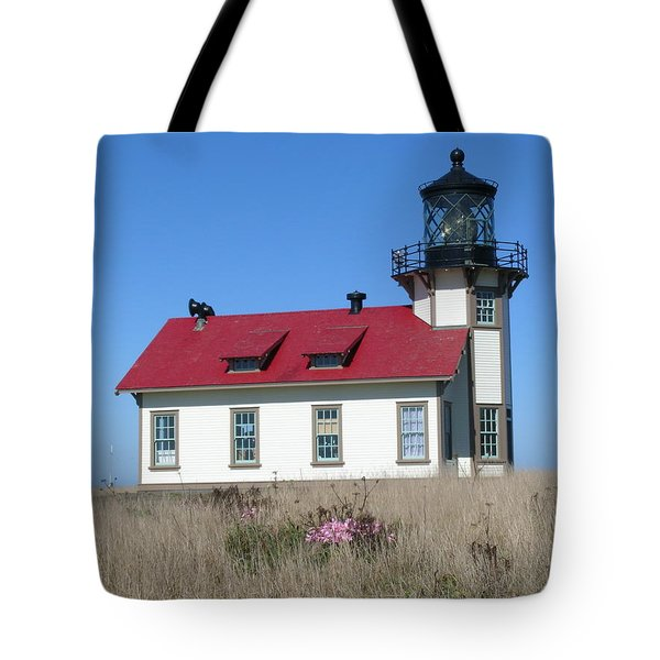 Mendocino Lighthouse Tote Bag