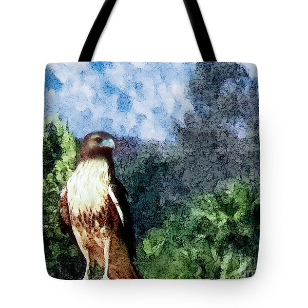 Tote Bag featuring the photograph Menifee Falcon by Rhonda Strickland