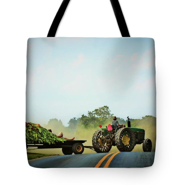 Menonnite Tobacco Farmer And Wife Tote Bag