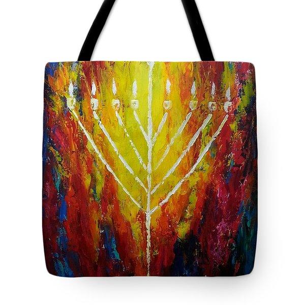 Chabad Menorah Tote Bag