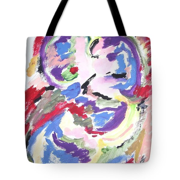 Tote Bag featuring the painting Mental Preoccupation by Esther Newman-Cohen