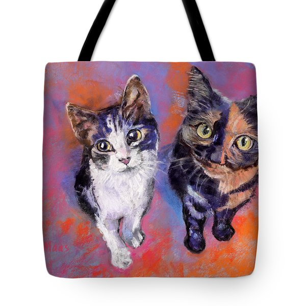 Meow Mix Tote Bag by Julie Maas