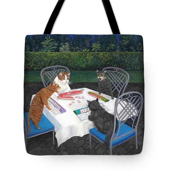 Meowjongg - Cats Playing Mahjongg Tote Bag