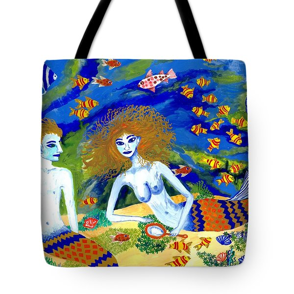 Mer Quarrel Tote Bag by Sushila Burgess