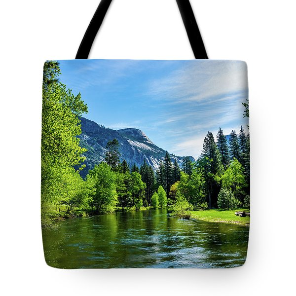 Merced River In Yosemite Valley Tote Bag