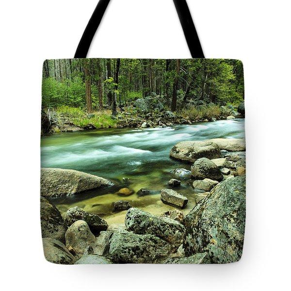 Merced River Yosemite Tote Bag