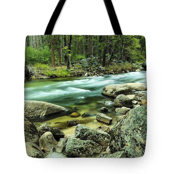 Merced River Yosemite Tote Bag