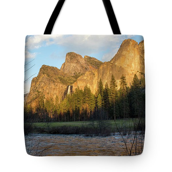 Merced River Yosemite Color Tote Bag