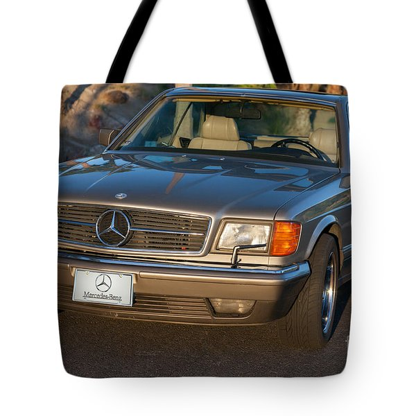 Mercedes 560sec W126 Tote Bag