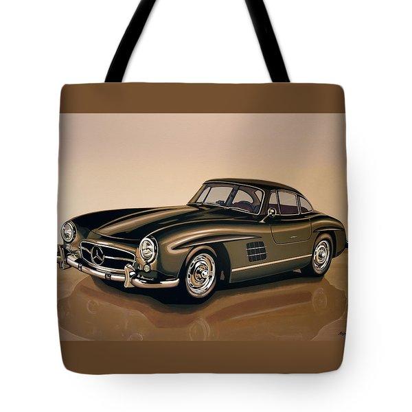 Mercedes Benz 300 Sl 1954 Painting Tote Bag