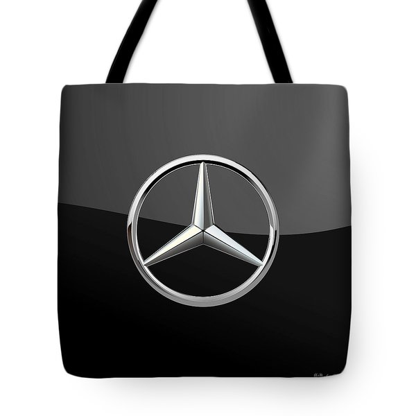 Mercedes-benz - 3d Badge On Black Tote Bag