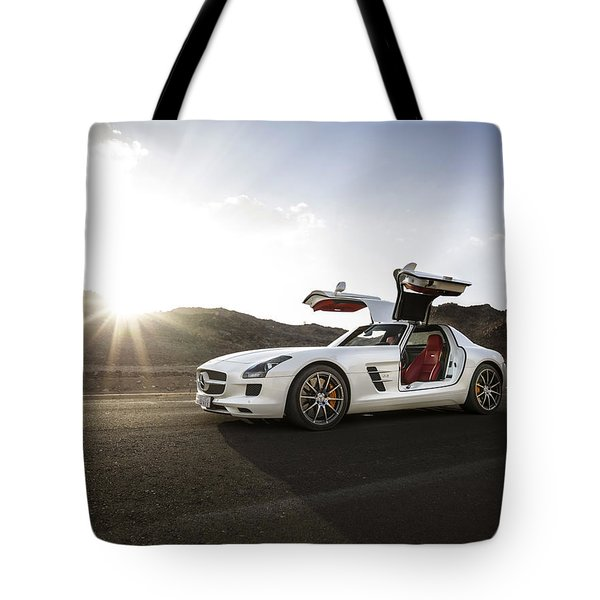 Mercedes Benz Sls Amg In Saudi Arabia Tote Bag
