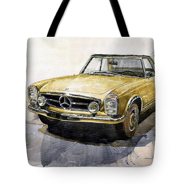 Mercedes Benz W113 Pagoda Tote Bag by Yuriy  Shevchuk