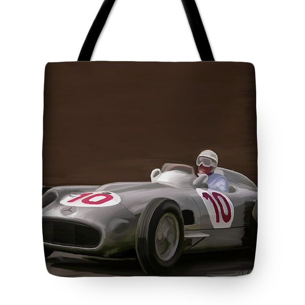 Mercedes-benz W196 Number 10 Tote Bag by Wally Hampton
