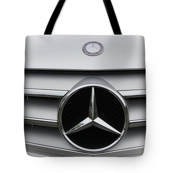 Tote Bag featuring the photograph Mercedes Benz by Yumi Johnson
